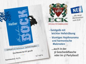 Heller Saphir Bock – neue Spezialität am Eck